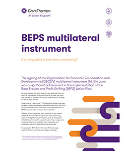 BEPS multilateral instrument