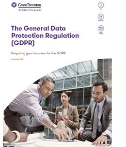 The General Data Protection regulation (GDPR) - report cover