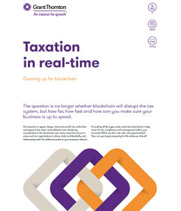 Taxation in real-time: Gearing up for blockchain - cover image