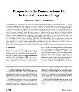 Proposte commissione UE sul reverse charge