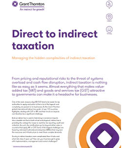 Direct to indirect taxation