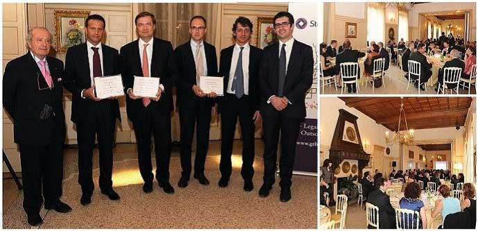 Pictures of the winners of the GEA 2010 with Giuseppe Bernoni and Stefano Salvadeo