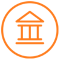 """Institutional building"" icon"