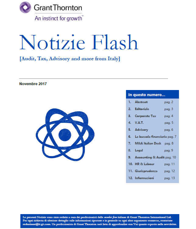 Notizie Flash novembre 2017 cover image